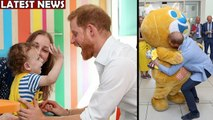 Prince Harry Is Joyous As He Plays With Kid At Hospital Visit -meghan -Diana
