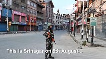 Deserted streets in Srinagar after India's Kashmir move