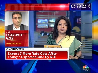 Expect 3 more rate cuts after today's expected one by RBI, says JPMorgan's Jahangir Aziz