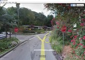 Sharon Tate, Manson murder route Aug  8, 1969 from Google Earth