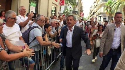 Nicolas Sarkozy chez lui à Toulon