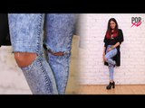 DIY Distressed Jeans | Ripped Jeans DIY - POPxo