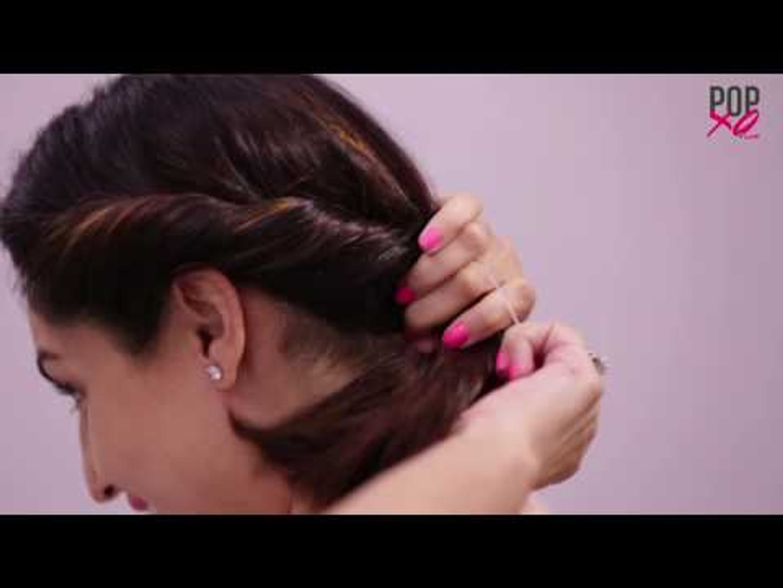 3 Pretty Bun Hairstyles For Short Hair Popxo Video Dailymotion