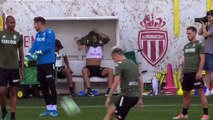 Monaco train ahead of first game of France's Ligue 1 season against Lyon