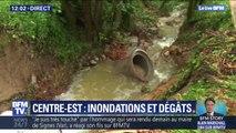À Pont-Salomon en Haute-Loire, les trombes d'eau ont emporté une partie de la route et une canalisation