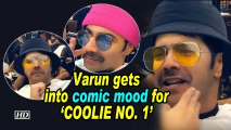 Varun gets into comic mood for 'COOLIE NO. 1'