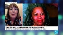 """Décès de Toni Morrison : """"Une littérature marquée par le rapport à l'histoire et à la mémoire"""""""