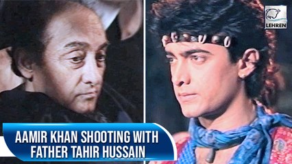 Aamir Khan With Father Tahir Hussain From The Sets Of Tum Mere Ho | Flashback Video