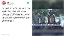 États-Unis : La photo d'un homme noir tenu par une corde par des policiers à cheval provoque un vif émoi