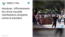 Honduras : Manifestation appelant à la démission du président Hernandez