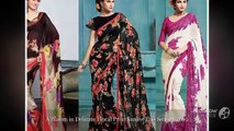 Stylish Trending Floral Print Sarees of 2019