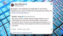 Trump Slams 2020 Hopeful Beto O'Rourke, Telling Him to 'Be Quiet' in the Wake of Mass Shootings in El Paso and Dayton