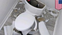 Toilet explodes after lighting strike hits Florida home's septic tank