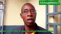 """Alpha Diallo: """"Avant de quitter la maison, le colonel Abdoulaye Diallo nous a dit..."""""""