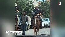 États-Unis : la photo de l'arrestation d'un homme noir tenu par une corde choque l'opinion