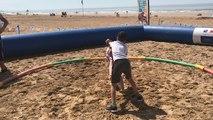 Le Beach Wrestling Tour s'est arrêté plage des Oiseaux