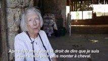 Françoise Lory-Blanquart, 98 ans, et toujours cavalière