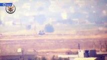 نسف دبابة لميليشيا أسد على محور قرية الزكاة شمالي حماة