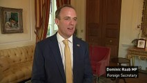 Raab says he has discussed post-Brexit Britain with Trump