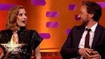 James McAvoy Tests Jessica Chastain On Understanding A Scottish Phrase - The Graham Norton Show
