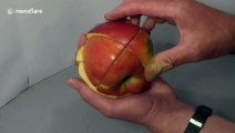 New apple product: man makes edible and functional apple Rubik's Cube