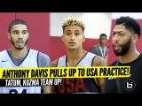 Anthony Davis watches Jayson Tatum - Kyle Kuzma Team Up- Can USA Basketball Win Gold Medal?-