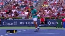 Rafael Nadal beats Dan Evans in straight sets at the ATP Rogers Cup