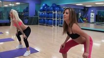 beautiful fitness girls doing