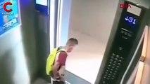 Kapı sensörü ile oynadığı asansörde mahsur kaldı