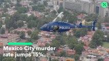 La tasa de homicidios en la Ciudad de México subió 15%