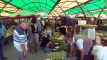 Tarlada 4 liraya satılan bamya, pazarda 16 liraya alıcı buluyor