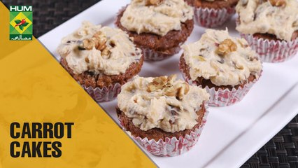 Moist & Easy Carrot Cakes | Food Diaries | Masala TV Show | Zarnak Sidhwa