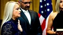 Justice Secretary Wanda Vazquez sworn in as Puerto Rico governor