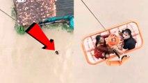 Flood: ಮಹಿಳೆ ರಕ್ಷಿಸಿದ ಫ್ಲೈಟ್ ಲೆಫ್ಟಿನೆಂಟ್ ಕರಣ್ ದೇಶ್ ಮುಖ್