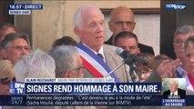 """Signes: pour le maire par intérim de la commune, """"le décès de notre maire a un retentissement national"""""""