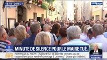Les habitants de Signes observent une minute de silence en hommage à Jean-Mathieu Michel