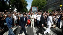 Fans recreate Beatles' iconic Abbey Road cover shot 50 years on