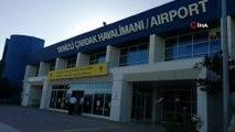 Çardak Havalimanı'nda deprem nedeniyle asma tavanda çökmeler meydana geldi
