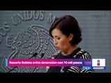 Rosario Robles evita detención con 70 mil pesos | Noticias con Yuriria Sierra