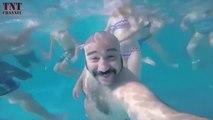 Il saute dans une piscine remplie d'enfants et va le regretter