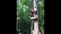 Tarzan, sort de ce corps... Saut raté