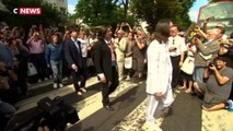 Les fans des Beatles fêtent les 50 ans de la photo d'Abbey Road