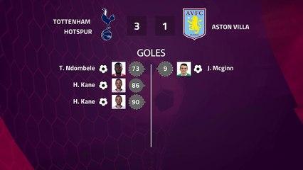 Match report between Tottenham Hotspur and Aston Villa Round 1 Premier League