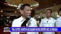 Pangulong #Duterte, hihintayin ang sasabihin ng mga eksperto ukol sa dengvaxia