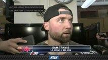 Sam Travis, Sandy Leon Discuss Red Sox's Big 3-0 Win Vs. Angels