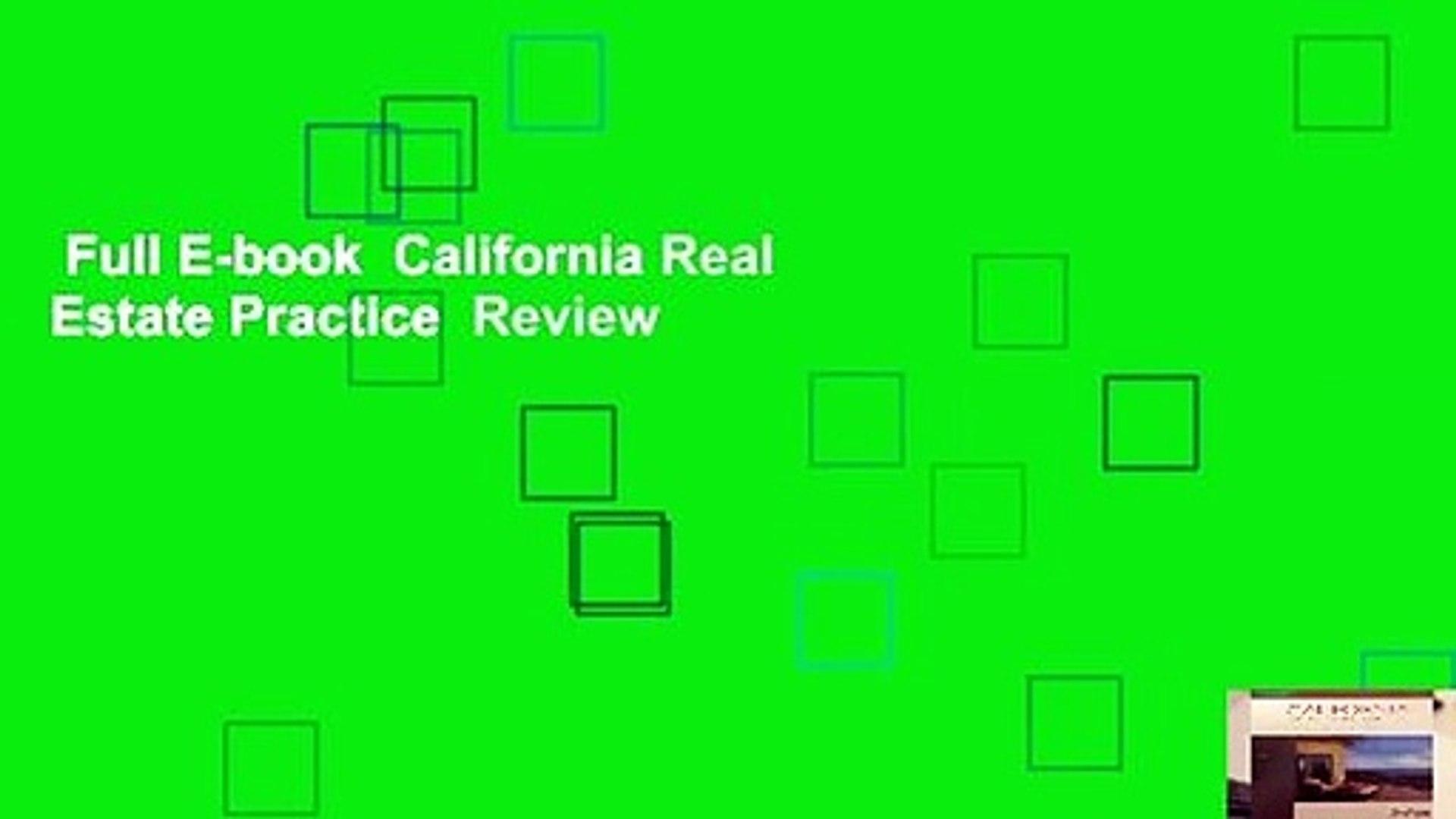 Full E-book California Real Estate Practice Review