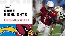 Chargers vs. Cardinals Preseason Week 1 Highlights - NFL 2019