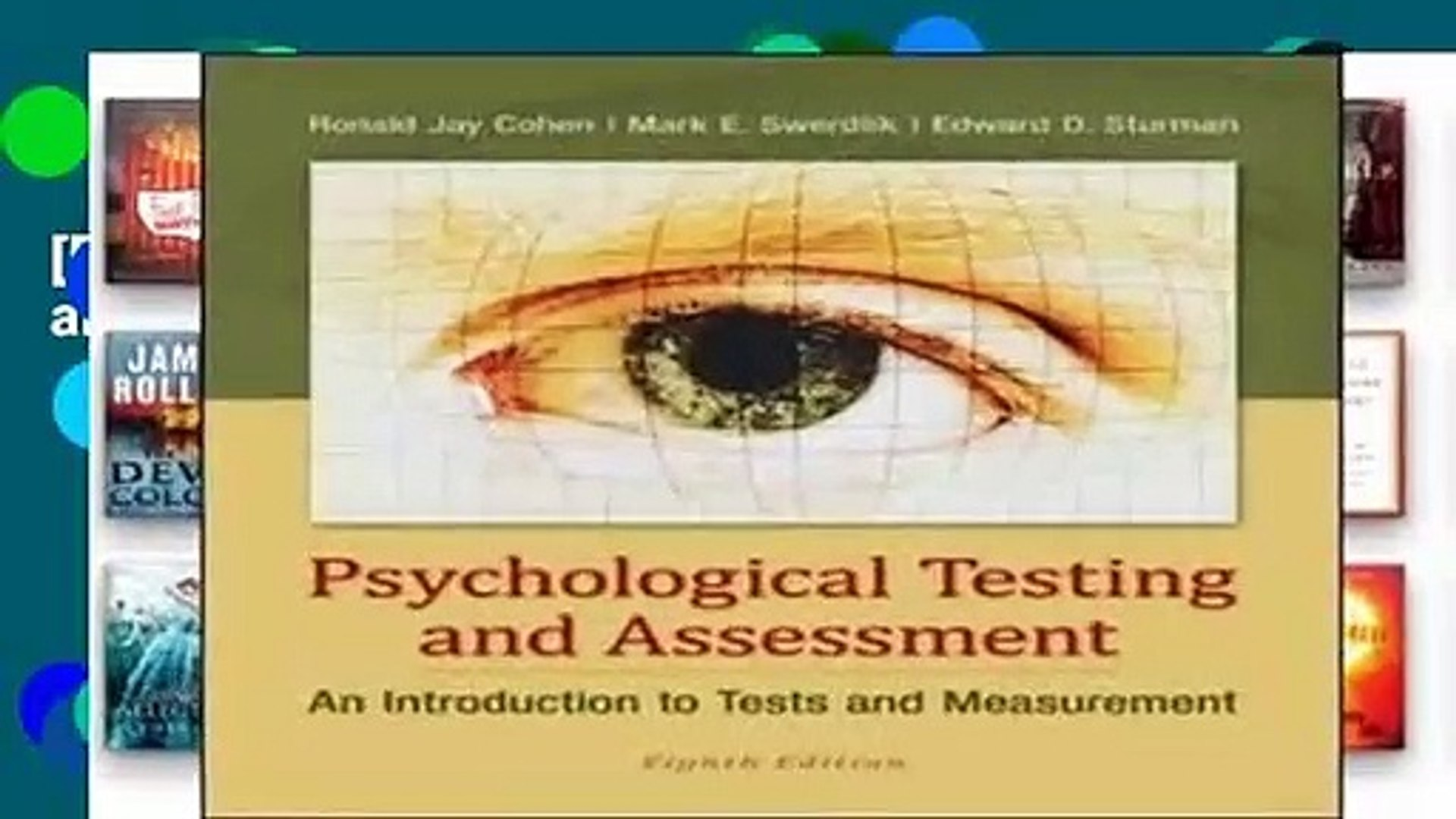 [FREE] Psychological Testing and Assessment