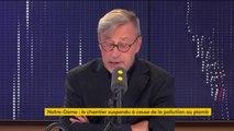"""""""L'urgence c'est d'abord de finir de sécuriser la cathédrale"""" affirme Monseigneur Chauvet, recteur de Notre Dame de Paris"""