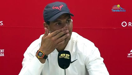 "ATP - Montréal 2019 - Rafael Nadal : ""If we are on the board of players together with Roger Federer, it's because we talked about it before, so we decided together to go"""